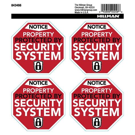 the hillman home security labels 843466 the home depot