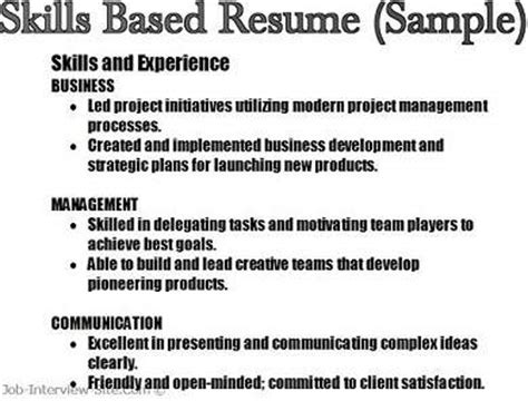 Resume Jobs Skills by Key Skills In Resumes Skill Based Resume Amp Skills Summary