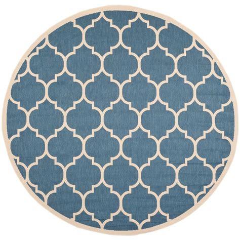 round accent rugs safavieh courtyard blue beige 5 ft 3 in x 5 ft 3 in
