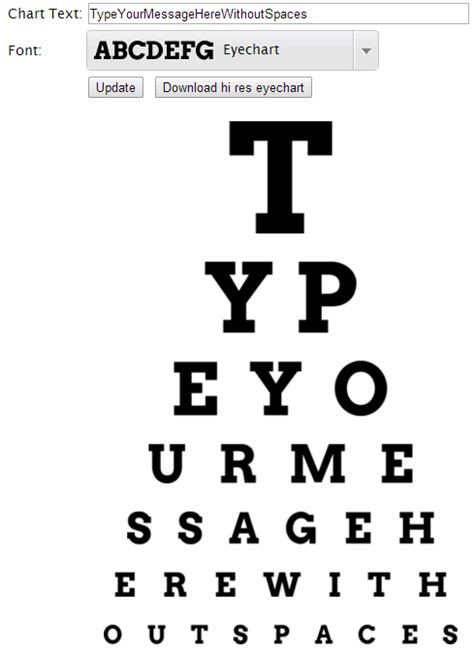 a4 printable eye test chart diy eye chart personalized mothers day gift