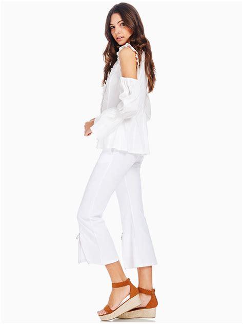 Terbatas Sleeve Maxi Jumpsuit 9028 95 white cold shoulder baroness blouse modishonline
