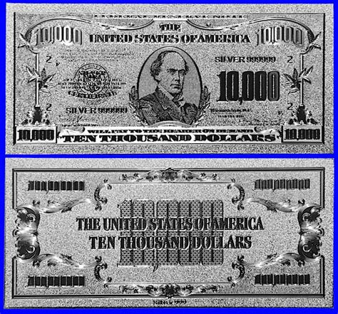 RARE US CURRENCY - STRANGE $10,000 BILL WITH SAMUEL P ... $10000 Bill For Sale