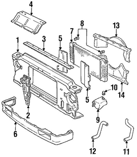 gmc sonoma parts radiator support parts for 1993 gmc sonoma