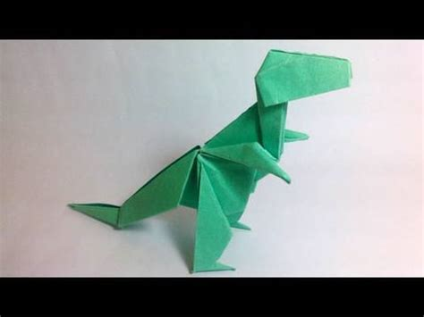How To Make At Rex Out Of Paper - origami tyrannosaurus rex montroll dinosaur 1