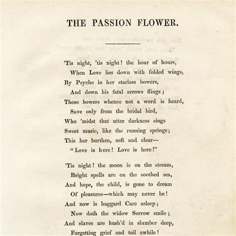 vintage clip art poem passion flower  design