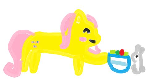 my pony painting my painting of fluttershy my pony friendship is