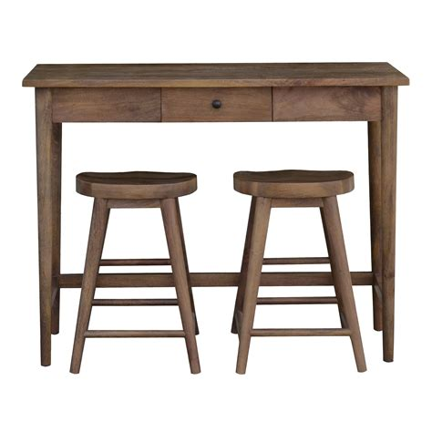 linea oliver bar table 2 stools brown bluewater 163 499 00