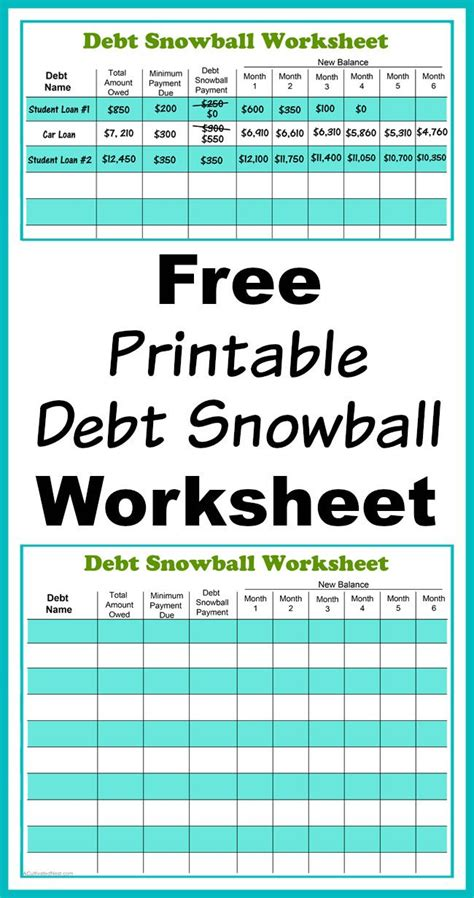 budget template to pay debt free printable debt snowball worksheet pay your debt