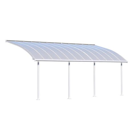 10 ft awning palram joya 10 ft x 24 ft white patio cover awning