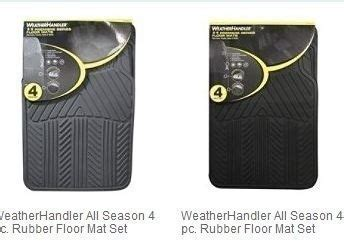 Sears Floor Mats by Sears Weatherhandler 4 Pc Universal Floor Mats 12 49 Free Up