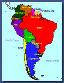 colored map of south america america map