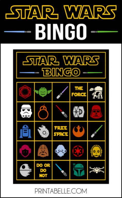 printable star wars pictures star wars printable bingo game party printables games