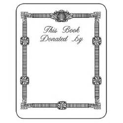 bookplate template 6 best images of bookplates printable donated free