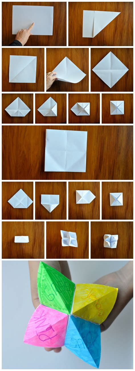How To Make A Chatterbox Out Of Paper - how to make a chatterbox out of paper