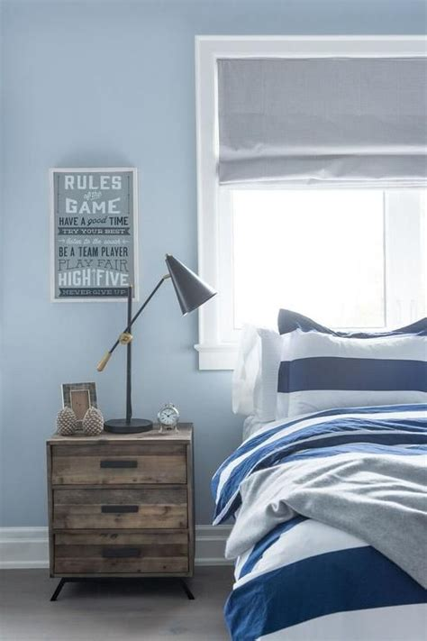 boys blue bedroom blue and gray boy s bedroom features a wall painted blue