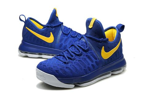 kd new year shoes nike kd 9 warriors away royal blue yellow 2016 for sale