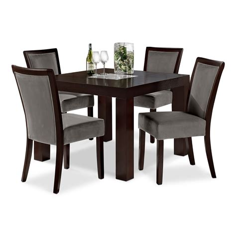 grey wood dining room table and chairs grey dining room chairs decofurnish