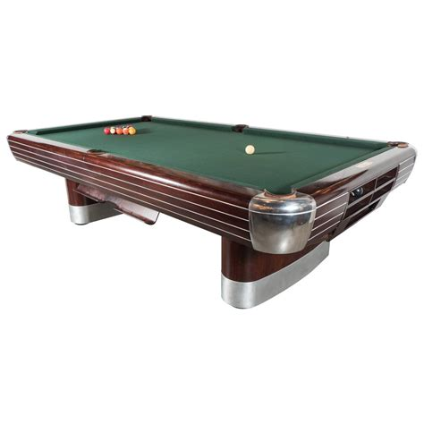 deco brunswick pool table in rosewood with brushed and