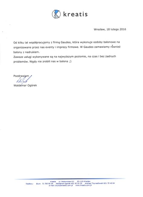Closing Confirmation Letter Referencje I Opinie