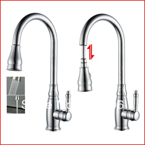 single lever pull out kitchen faucet sink chrome swivel single lever kitchen faucet pull out
