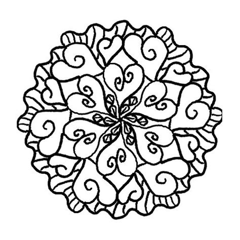 mandala coloring pages hearts 27 best images about mandala coloring pages on