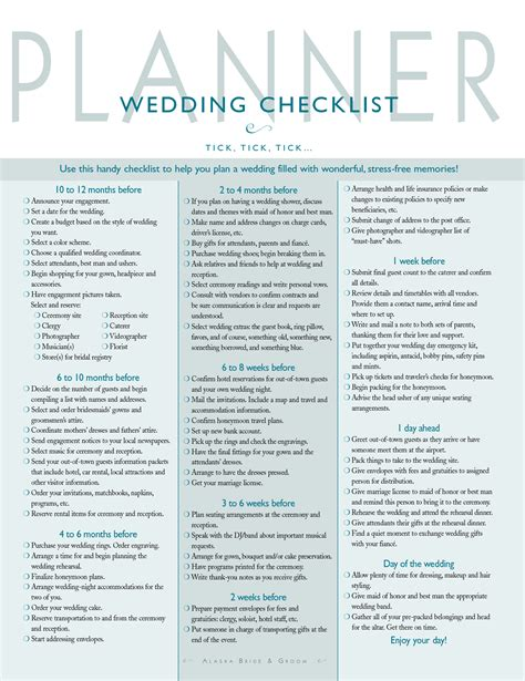 Wedding Checklist Wedding Wedding Checklist Template