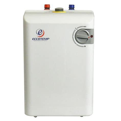 mini water heater under eccotemp water heater 2 5 gal electric mini tank small