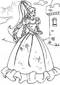 princess colouring pages