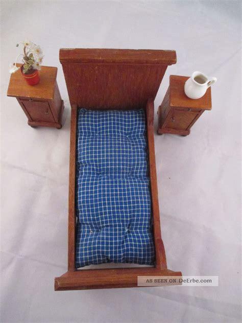 schlafzimmer 20er jahre schlafzimmer f 252 r puppenstube bett und 2 x nachttisch ca