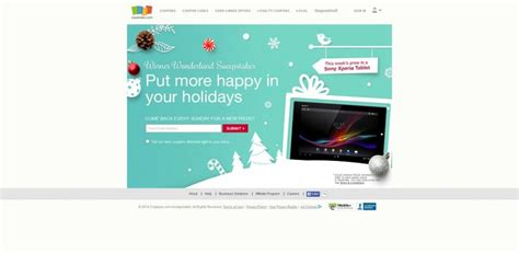 Sweepstakes Coupons - coupons com winner wonderland sweepstakes