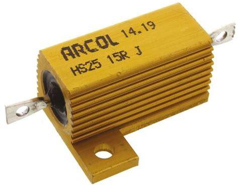 arcol resistors hs25 hs25 15r j arcol hs25 series aluminium housed axial panel mount resistor 15ω 177 5 25w arcol