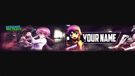 banner editable anime increible free download youtube