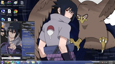 themes naruto shippuden windows 7 lightuzumaki sasuke uchiha theme windows 7