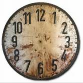 Print, buy or reuse a clock face you like and one that will fit into ...