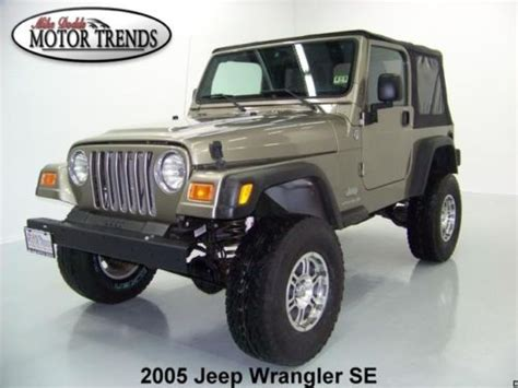 2005 Jeep Wrangler Tires Purchase Used 2005 Jeep Wrangler Se 4x4 Soft Top Lifted