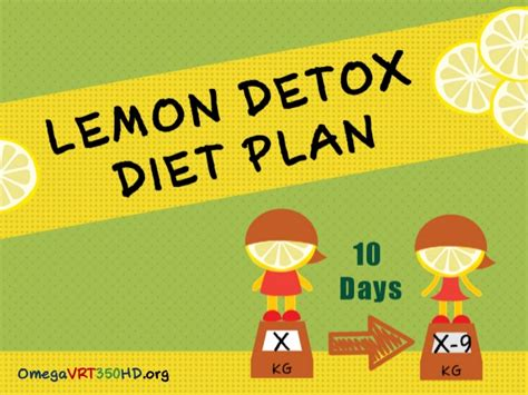 10 Day Detox Diet Meal Plan by Lemon Detox Diet Plan Are You Ready For 10 Day Lemon Fast