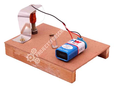Electric Bell science projects simple electric bell