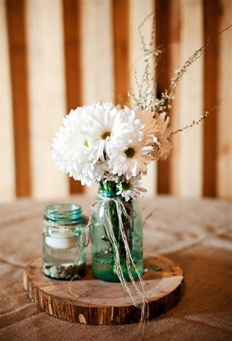 12 Country Wedding Wood Centerpieces ? Unique & Cheap