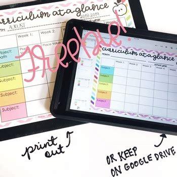 editable curriculum map modern teacher
