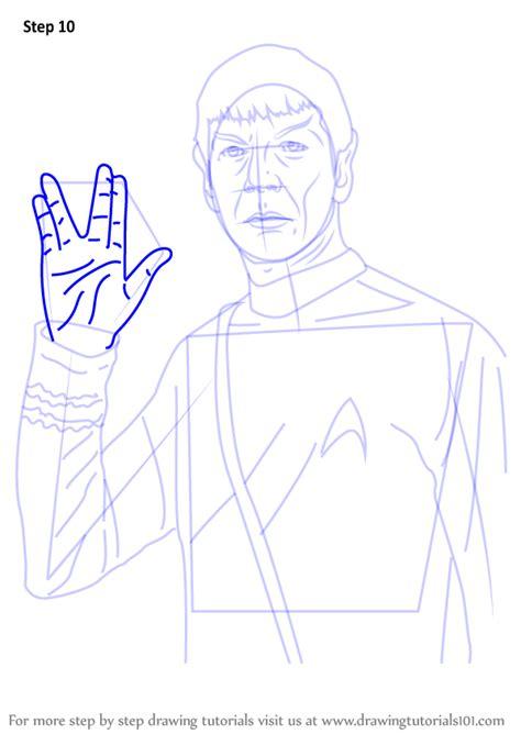 learn   draw spock  star trek star trek step