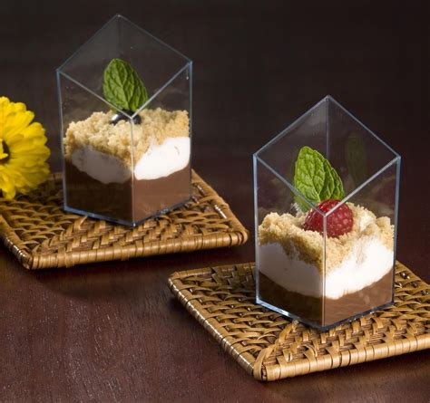 Cup Puding Mini 2 5 oz cube plastic mini glass dessert cup black 200 pcs ebay