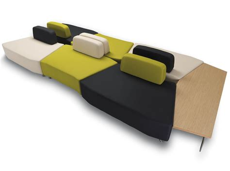 modular bench upholstered modular fabric bench apollo by true design