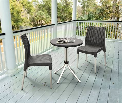 Outdoor Patio Table And Chairs by Keter Chelsea Resin Outdoor Patio Furniture Table