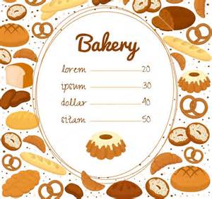 free bakery menu templates sle bakery menu template 15 documents in