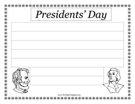 abraham lincoln printable writing paper presidents day writing template writing template