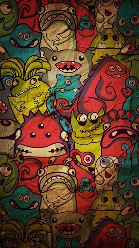 wallpaper iphone 5 cartoon hd cartoon monsters pattern wallpaper free iphone wallpapers
