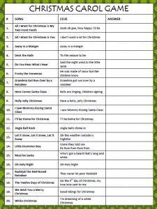 Printable Hymn Quiz