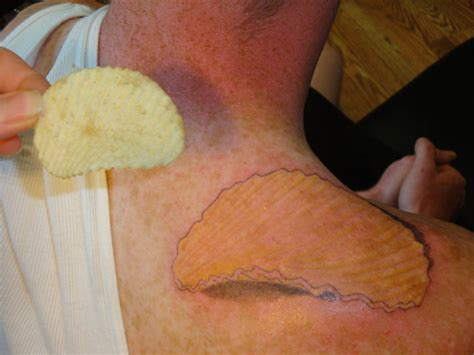 potato tattoo potato chip by welcometoreality on deviantart