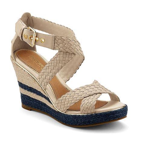 sperry wedge sandal pin by garreau on worn