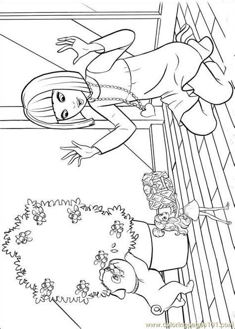 barbie thumbelina 17 coloring page free barbie